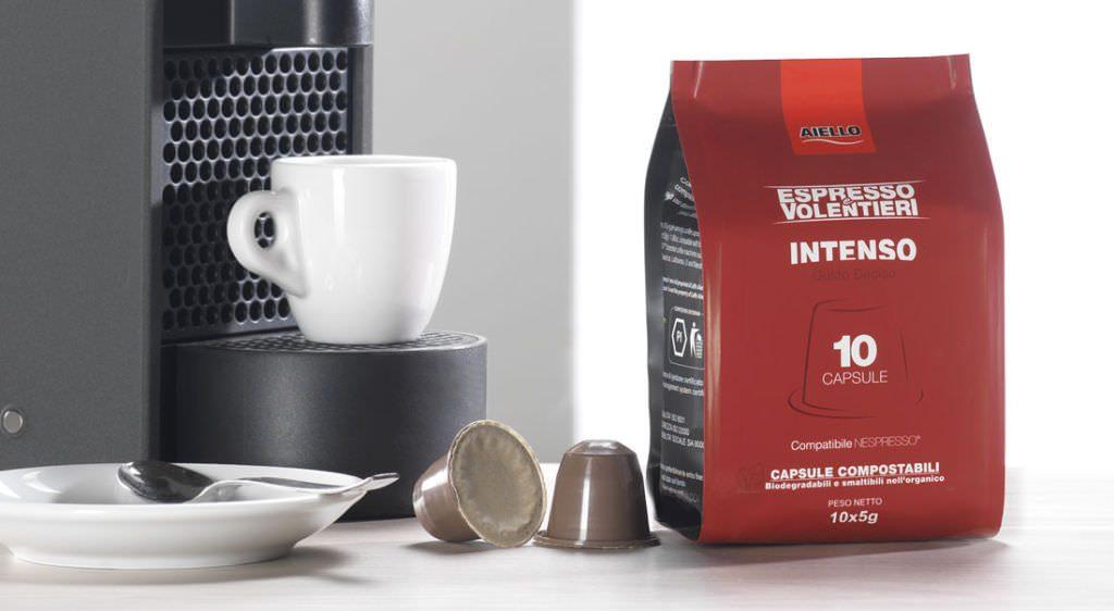 """Caffè Aiello: Nasce """"Espresso e Volentieri"""", il nuovo brand dedicato al monoporzionato amico dell'ambiente"""