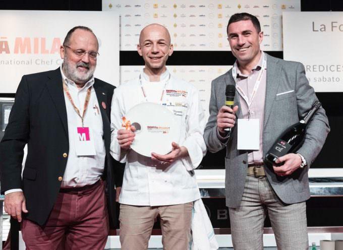 Riccardo Camanini vince il Premio Cuoco dell'Anno, conferito da Contadi Castaldi