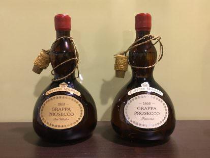 1868 Grappa da Prosecco Fine Vecchia e 1868 Grappa da Prosecco Finissima