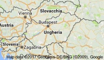 Ungheria - map