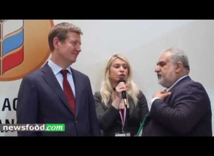Sergey Levin, vice ministro Agricoltura Russa a Vinitaly 2017 (Video)