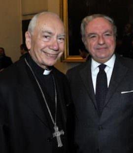 Colombo Clerici con il card. Francesco Coccopalmerio ad un convegno dei Giuristi Cattolici nel 2014