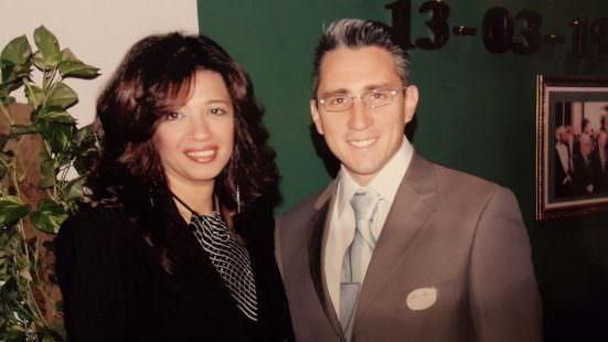 Daniele con la Manager Miss Azza Aziz