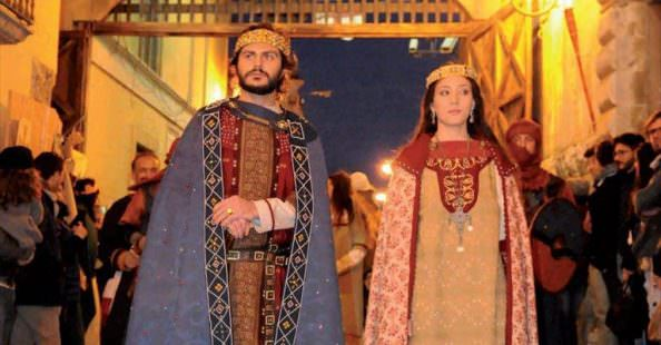 Federico II con Bianca Lancia