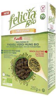 Fusilli 100% farina di fagioli verdi Mung Bio