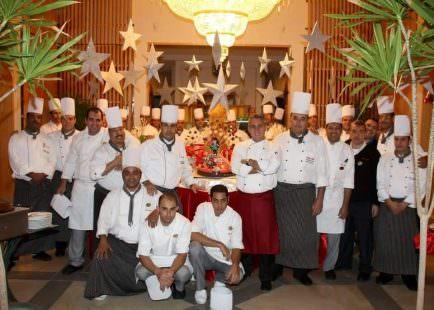 Lo Chef Daniele Centaroli col suo staff