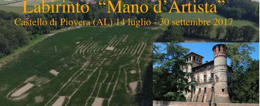 Labirinto Mano d'Artista nel campo di mais bio al Castello di Piovera