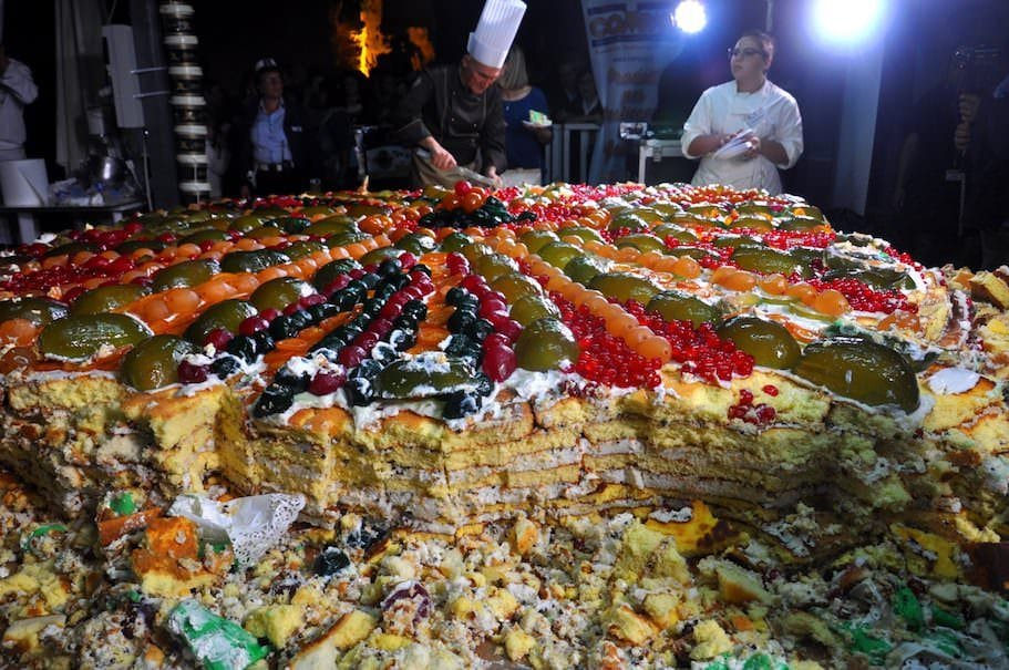Blue Sea Land 2017: cassata record da 1300 kg a Mazara del Vallo