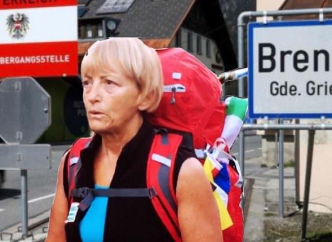 Vienna Cammarota al Brennero verso l'Italia