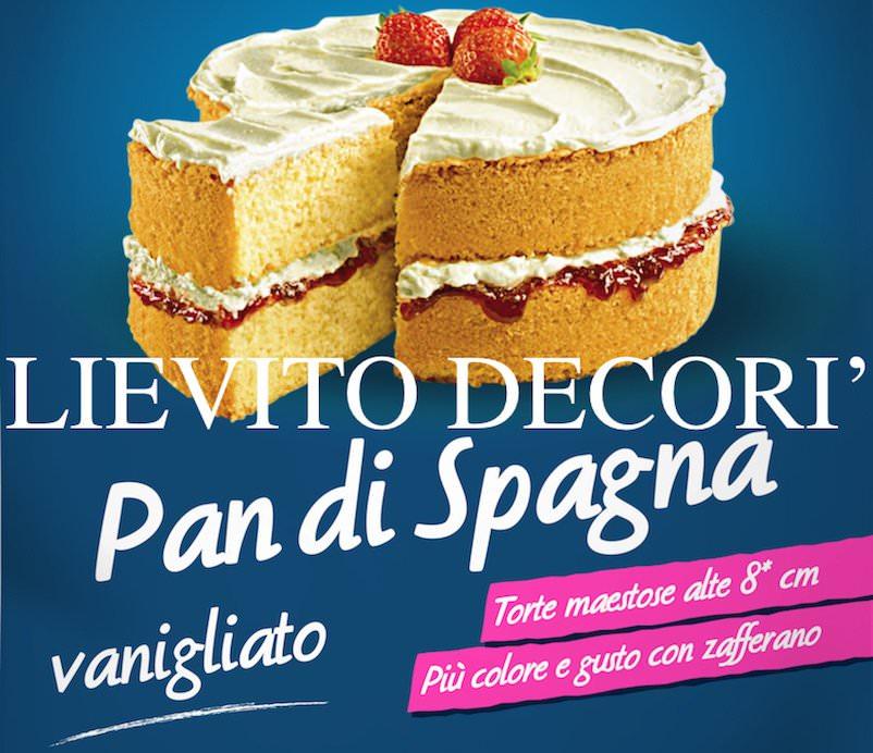 Decorì, Lievito Pan di Spagna Vanigliato con ingredienti naturali