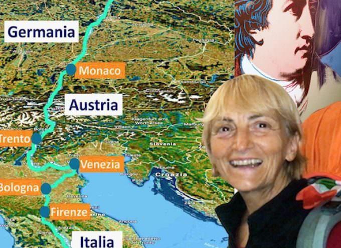 Vienna Cammarota, dopo due mesi di cammino, arriva a casa di Goethe a Roma