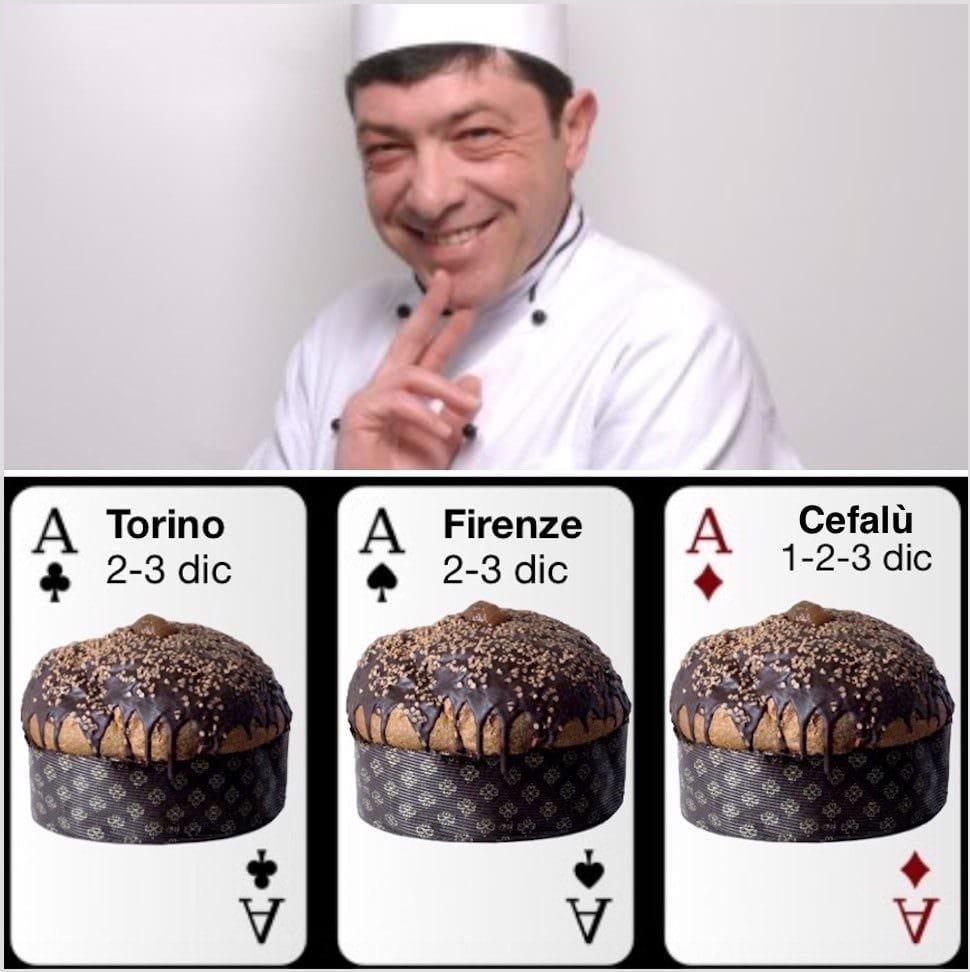 Tris d'Assi del panettone Fiasconaro: Torino, Firenze e Cefalù