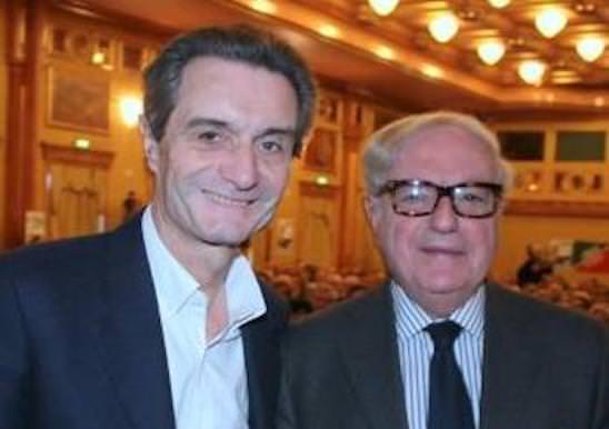 Campagna elettorale di Giulio Gallera con Attilio Fontana presidente