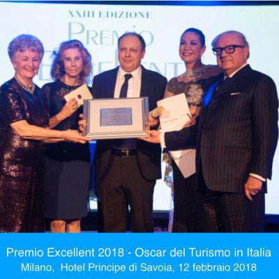Vincitori Premio Excellent 2018, Oscar Turismo in Italia: Giovanni Legnini, Sandro Neri, Carlo Bonomi, Andrea Zappia