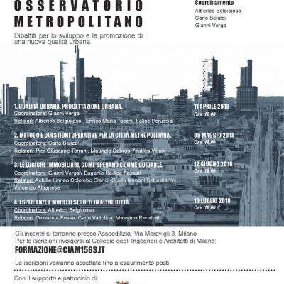 Osservatorio Metropolitano – Dibattiti per lo sviluppo e la promozione di una nuova Qualità Urbana