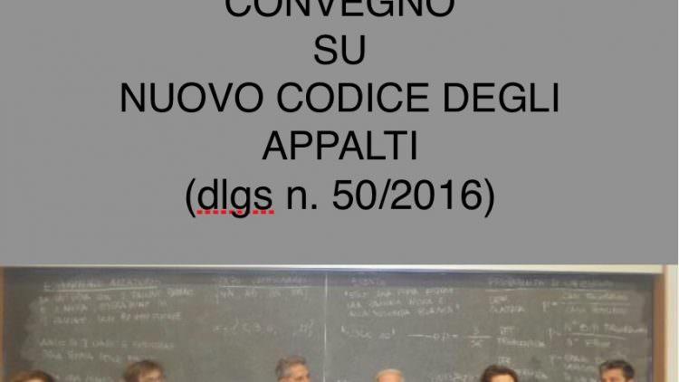 Convegno su Nuovo Codice degli Appalti – Politecnico di Milano