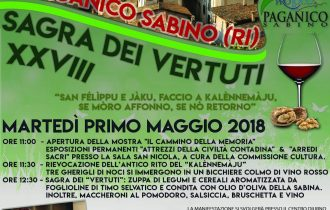 """E' festa a Paganico Sabino con il """"Kalènnemàju"""" e la """"Sagra dei Vertuti"""""""