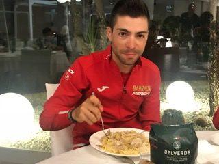 Giro d'Italia, pasta Delverde per Baharain Merida