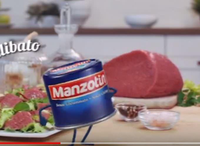 Manzotin -solo carne da allevamenti italiani- in tv  su La7 e La7D