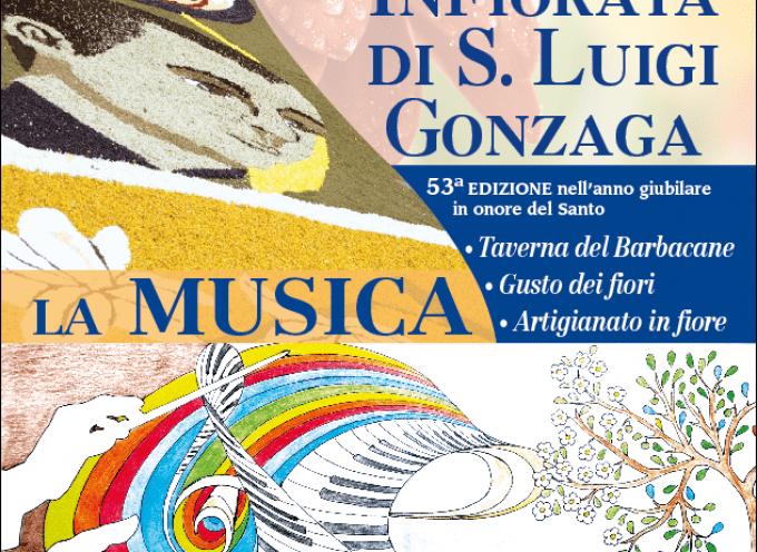 Città della Pieve in festa per l'Infiorata di San Luigi Gonzaga