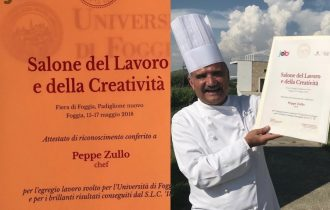 Peppe Zullo ambasciatore del gusto ma anche del Lavoro e della Creatività per i giovani Pugliesi