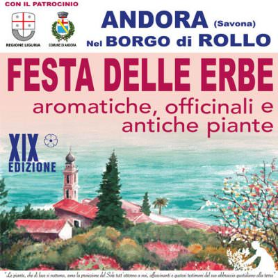 Festa delle Erbe Aromatiche, Officinali e Antiche Piante – 16 e 17 giugno 2018 – Borgo di Rollo, Andora (SV)