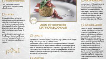 Panzanella, la prima ricetta certificata blockchain