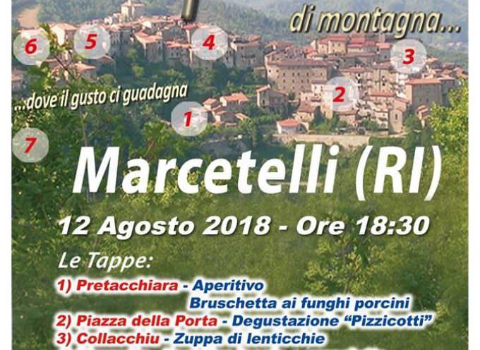 """Tra i vicoli di Marcetelli un grande """"serpentone"""" del gusto"""