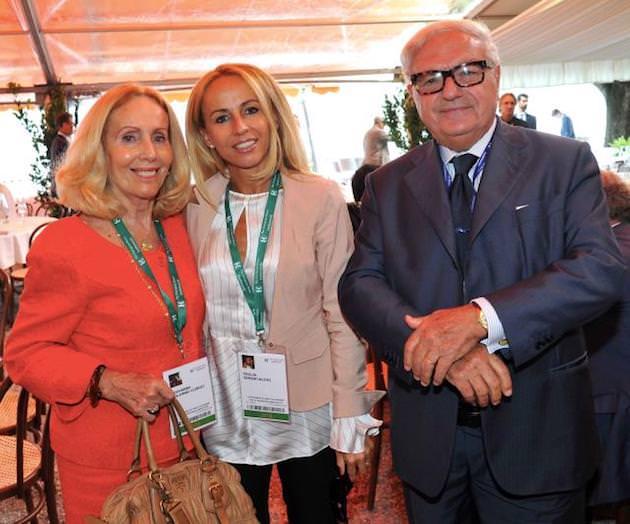 ACC con la moglie Giovanna e la figlia Giulia Colombo Clerici Simontacchi