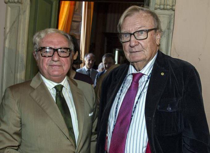 Carlo Rubbia e Gianluca Vago in Casa Belgiojoso Castello Confalonieri al 27° Incontro Caidate