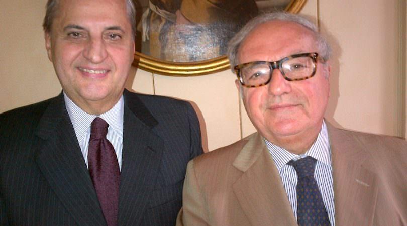 Achille Colombo Clerici con Giampio Bracchi
