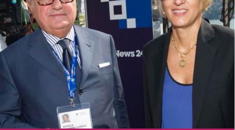 Achille Colombo Clerici e il Ministro della Funzione Pubblica, Giulia Buongiorno