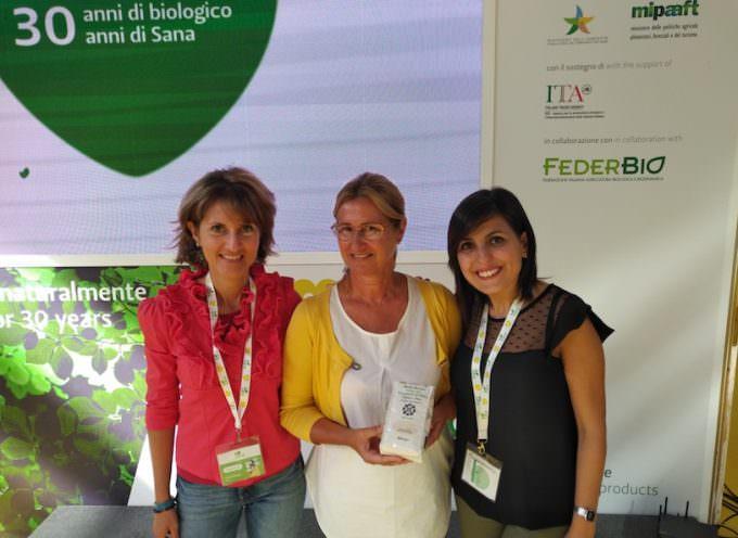 La polenta di riso biologico Azienda agricola Martin Gazzani Roberta vince l'Award a SANA 2018