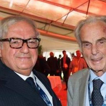 Domenico Bosatelli con Achille Colombo Clerici