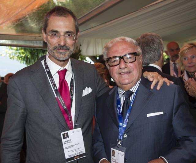 Il presidente di Assoedilizia Achille Colombo Clerici con Valerio de Molli