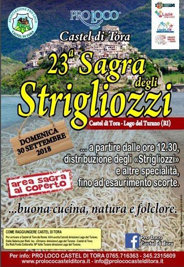 Castel di Tora festeggia con gli strigliozzi, un delizioso primo piatto della tradizione – 30 settembre