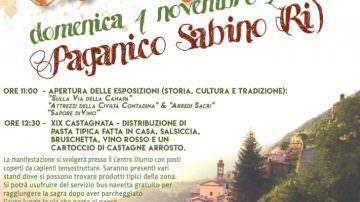 Paganico Sabino (RI) in festa per la tradizionale Castagnata – 4 novembre