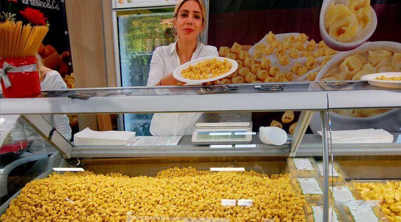 Parmigiano Reggiano a volonta n ei tortellini a Terra Madre