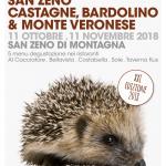 TORNA SAN ZENO CASTAGNE, BARDOLINO & MONTE VERONESE, LA RASSEGNA GASTRONOMICA SUI SAPORI DEL BALDO