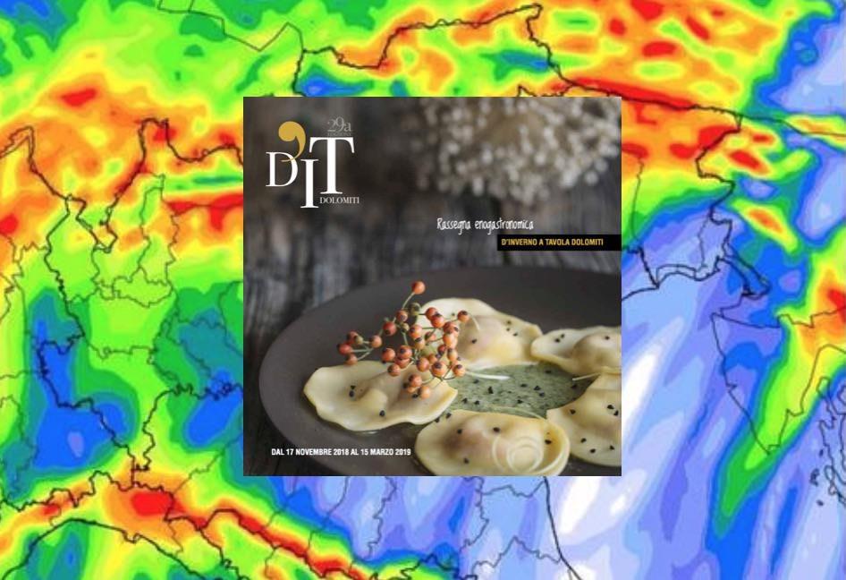 D'Inverno a Tavola Dolomiti: posticipa al 28 novembre a causa dei disastri