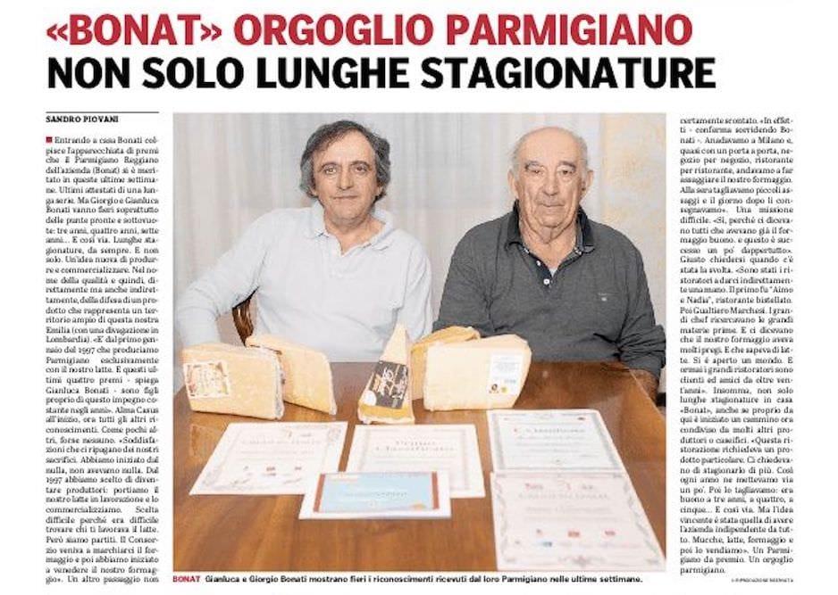 Bonat, n° 1 del Parmigiano Reggiano: pascolo, mucche, latte e stagionatura