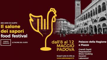 Salone dei sapori Padova 8-12 maggio con Cannavacciolo e Alajmo