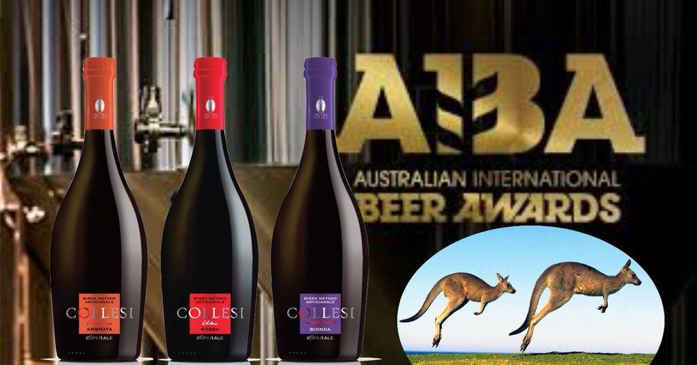 Tripletta per il birrificio artigianale Collesi  agli Australian International Beer Awards 2019