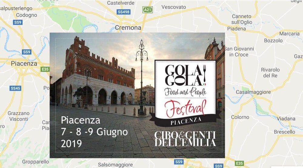 GOLA GOLA FOOD and PEOPLE FESTIVAL PIACENZA…  7-9 giugno 2019
