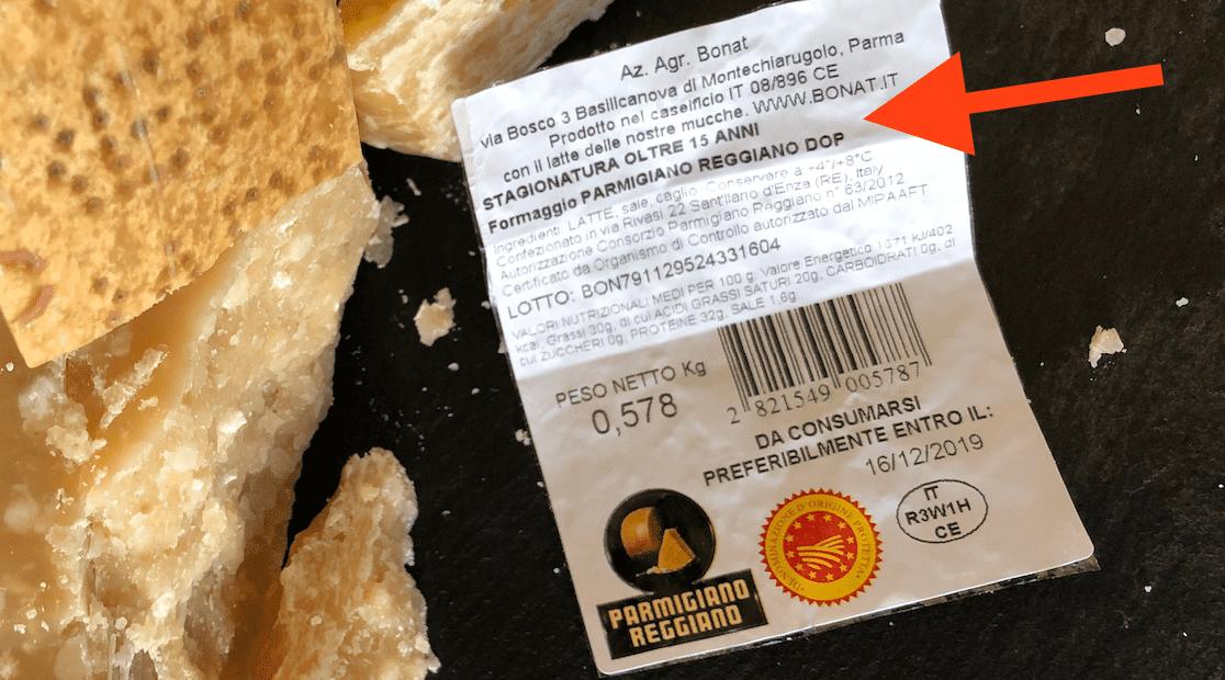 Parmigiano Bonat 15 anni di stagionatura: Assaggio di Comolli