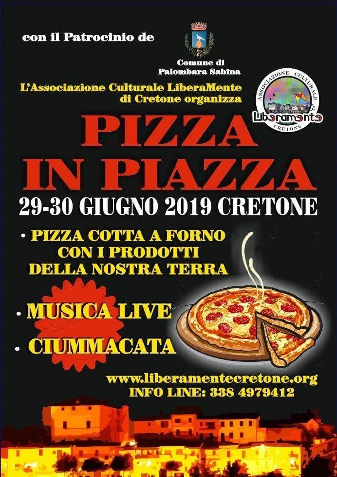 """""""Pizza in Piazza"""" e ciummacata, a Cretone (RM) si festeggia il 29 e il 30 giugno"""