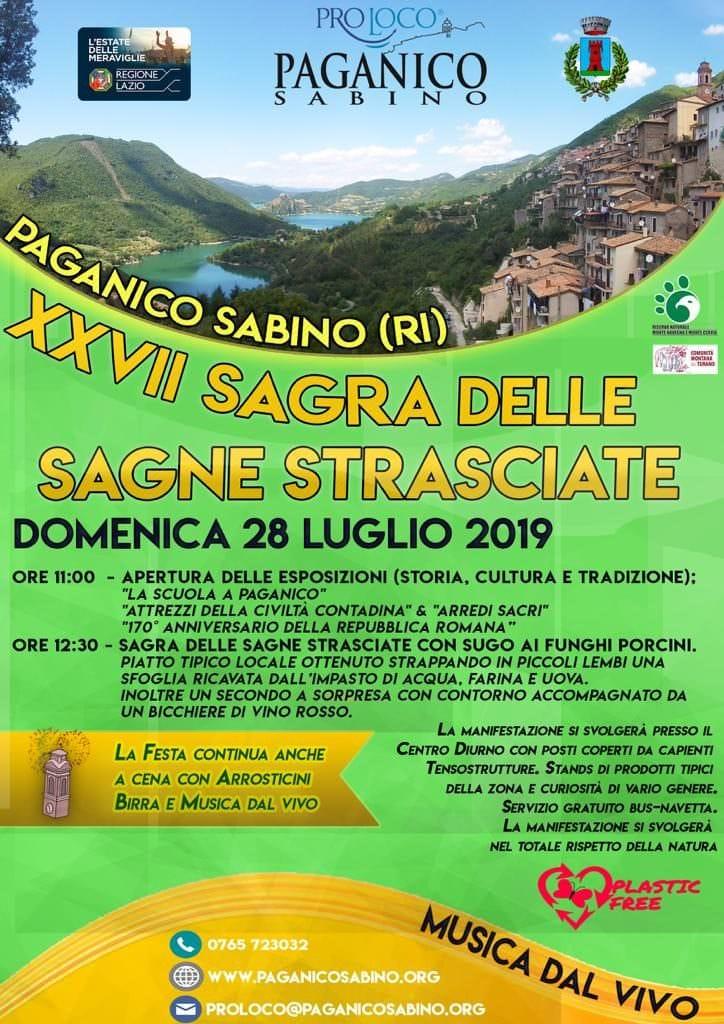 Sagra delle Sagne Strasciate, Paganico Sabino presenta il suo piatto più famoso – 28 luglio