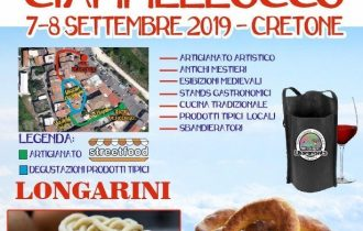 Ciammellocco e longarini, la sagra di Cretone (RM) raddoppia! – 7/8 settembre