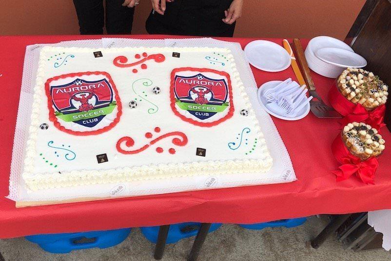 Aurora Soccer Club Alessandria: inaugurazione con calcio, grigliata, spumante e grande torta