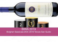 Bolgheri Sassicaia DOC 2016 Tenuta San Guido, 1° al BIWA 2019